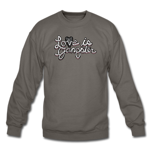 LOVE is Gangster - Men's - asphalt gray