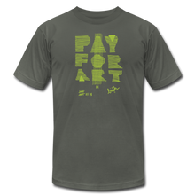 Load image into Gallery viewer, Pay For Art tee - blk/grn - asphalt
