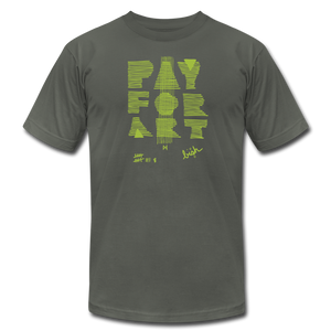 Pay For Art tee - blk/grn - asphalt