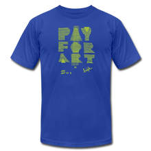 Load image into Gallery viewer, Pay For Art tee - blk/grn - royal blue