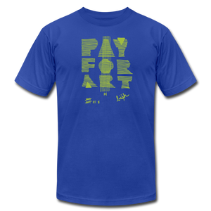 Pay For Art tee - blk/grn - royal blue