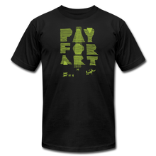 Load image into Gallery viewer, Pay For Art tee - blk/grn - black