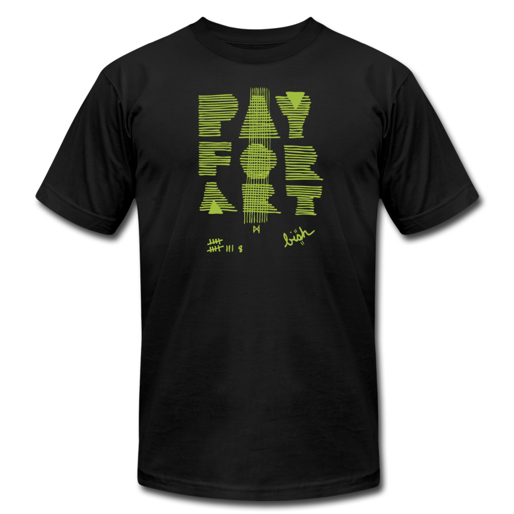 Pay For Art tee - blk/grn - black