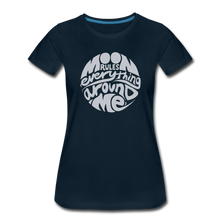 Load image into Gallery viewer, Moon Rules Everything - Womens' Tee - deep navy