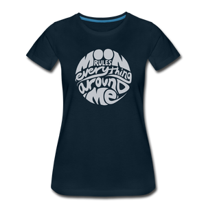 Moon Rules Everything - Womens' Tee - deep navy