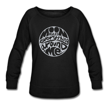 Load image into Gallery viewer, Moon Rules Everything - Women's Crewneck - black