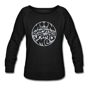 Moon Rules Everything - Women's Crewneck - black