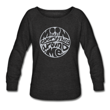Load image into Gallery viewer, Moon Rules Everything - Women's Crewneck - heather black