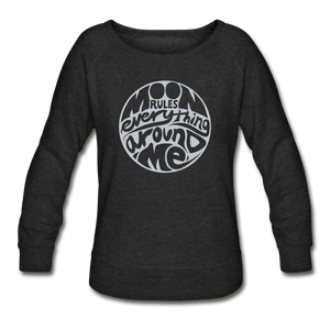 Moon Rules Everything - Women's Crewneck - heather black