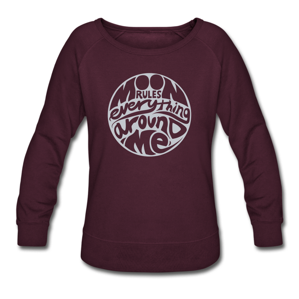 Moon Rules Everything - Women's Crewneck - plum