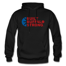 Load image into Gallery viewer, Built Buffalo Strong Hoodie - black