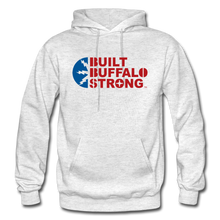 Load image into Gallery viewer, Built Buffalo Strong Hoodie - light heather gray