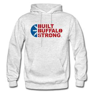 Built Buffalo Strong Hoodie - light heather gray
