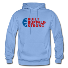 Load image into Gallery viewer, Built Buffalo Strong Hoodie - carolina blue