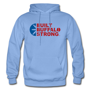 Built Buffalo Strong Hoodie - carolina blue