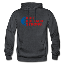 Load image into Gallery viewer, Built Buffalo Strong Hoodie - charcoal gray