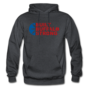 Built Buffalo Strong Hoodie - charcoal gray