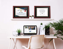 Load image into Gallery viewer, Diploma Frame - Real Wood and UV Protected Black - Memorablle