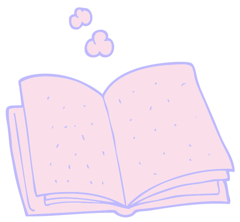an open book for journaling or reading