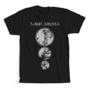 A-SUN AMISSA - Circles T-Shirt (Grey/Black)