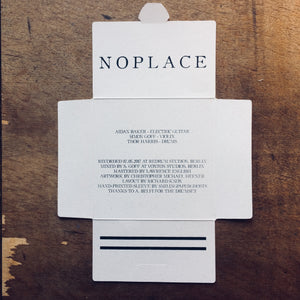 Baker / Goff / Harris - Noplace | Gizeh Records | Packaging by SmilingPaperGhosts