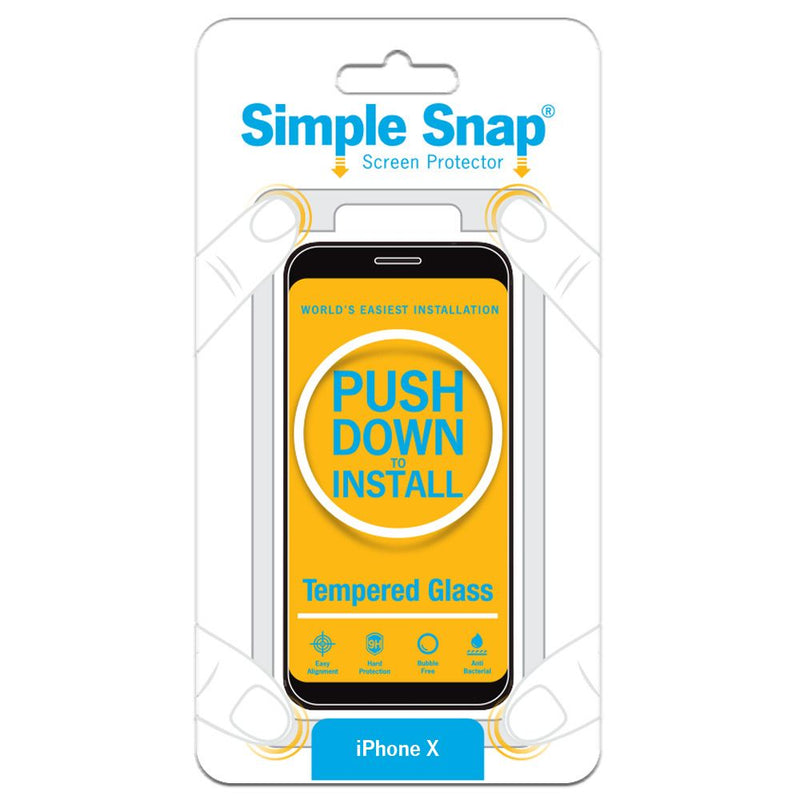 Simple Snap Tempered Glass Screen Protector iPhone X - 11 Pro Max