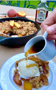MAPLE BOURBON PEACH CRISP