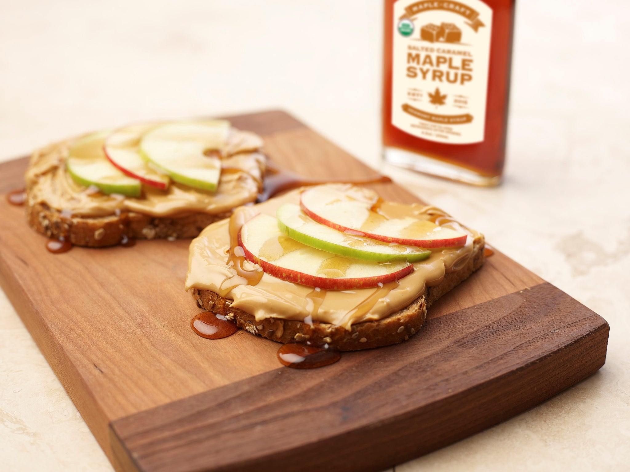 Nut Butter and Caramel Apple Sandwich