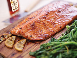 BOURBON BARREL AGED MAPLE GLAZED SALMON