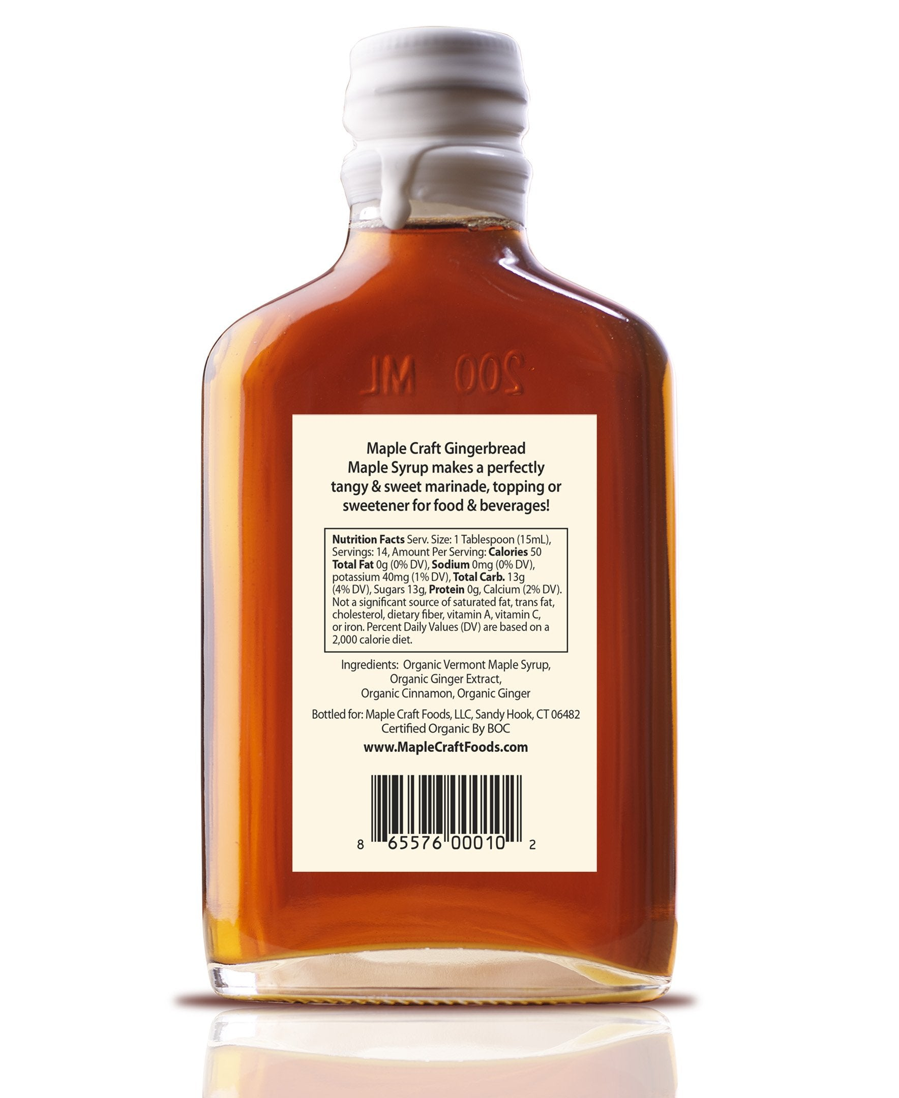 Gingerbread Maple Craft Syrup (Organic)