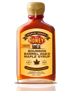 Hot Honey Bourbon Barrel Aged Maple Craft Syrup