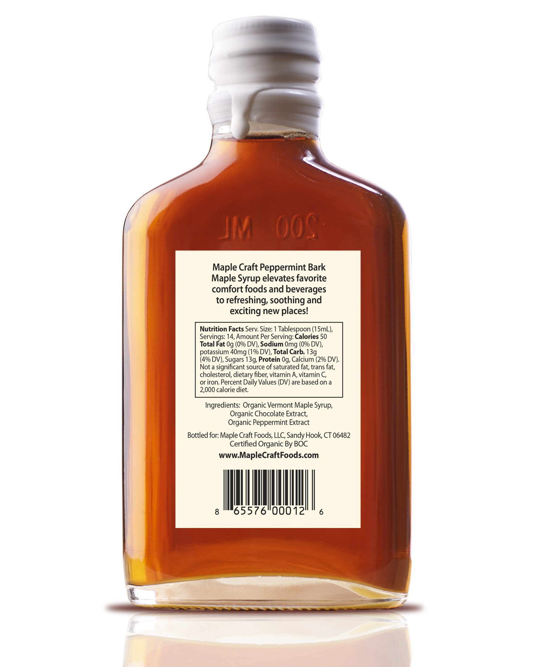 Peppermint Bark Maple Craft Syrup (Organic)