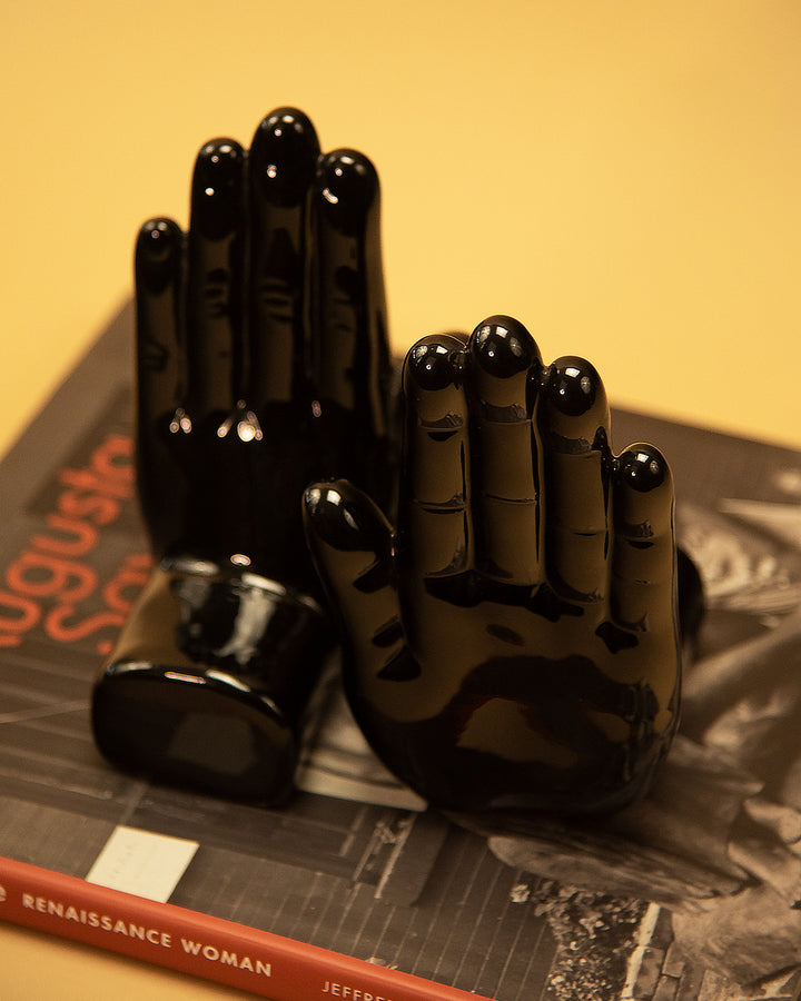 High-Five Black Bookends