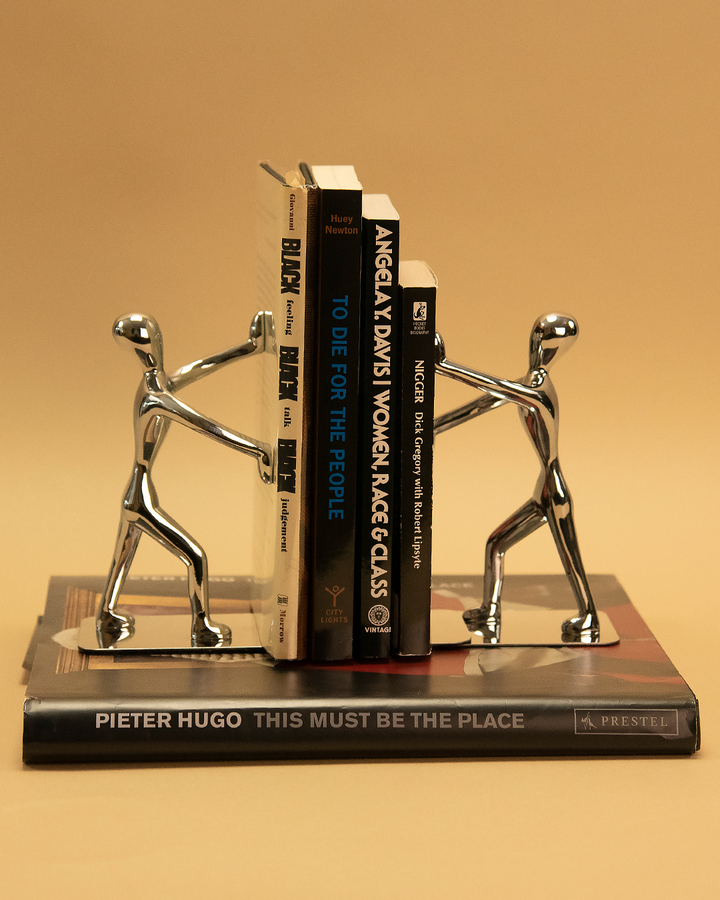Mini Men Silver Bookends