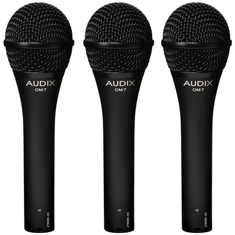 Audix OM7 Trio Dynamic Vocal Microphones