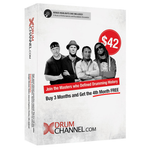 Drum Channel 3-Month Subscription with Bonus 1 Month Free