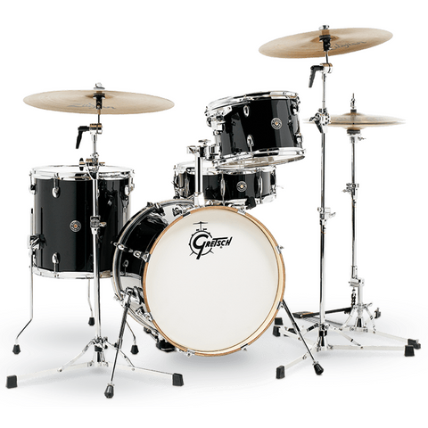 "Gretsch Drums Catalina Club 4-Piece - Bass Drum (18"") and Snare (Piano Black)"