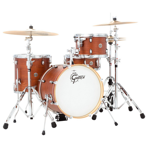 "Gretsch Drums Catalina Club 4-Piece - Bass Drum (18"") and Snare (Satin Walnut Glaze)"