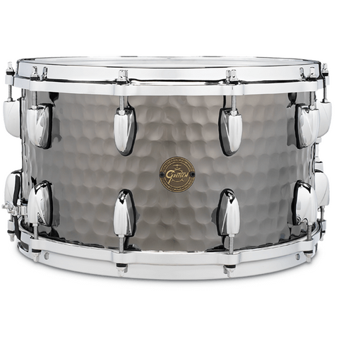 "Gretsch Drums Snare - Hammered Black Steel (8"" x 14"")"