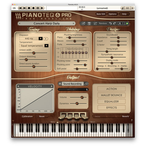 Pianoteq Harp Concert Harp Virtual Instrument