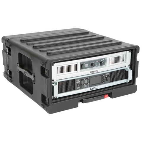 SKB 1SKB-R4UW Rack Case (4U) - Retractable Handle & Wheels