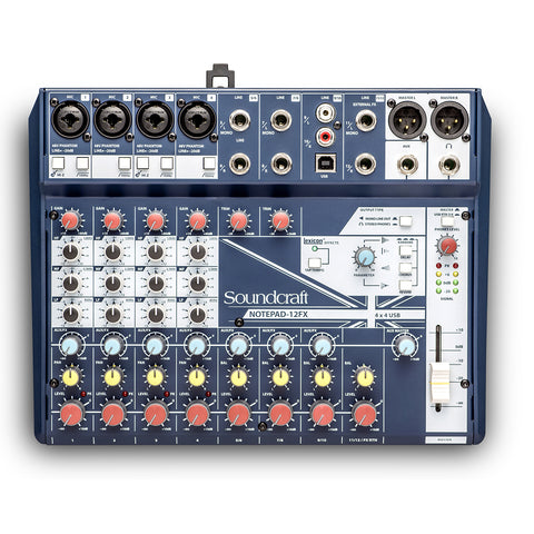 Soundcraft Notepad-12FX Analog Mixing Console (USB) - Lexicon Effects