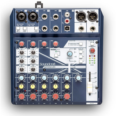 Soundcraft Notepad-8FX Analog Mixing Console (USB) with Lexicon Effects