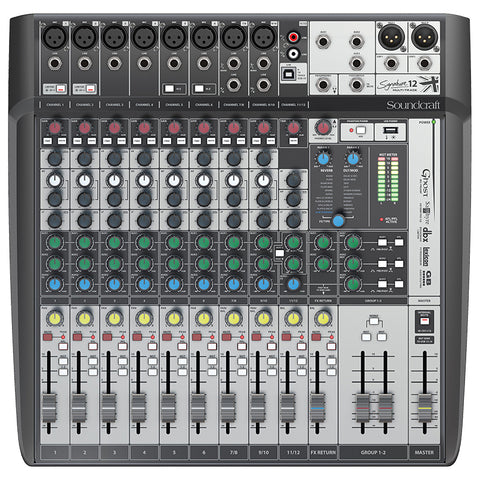 Soundcraft Signature 12 MTK Mixer Audio Interface with Effects
