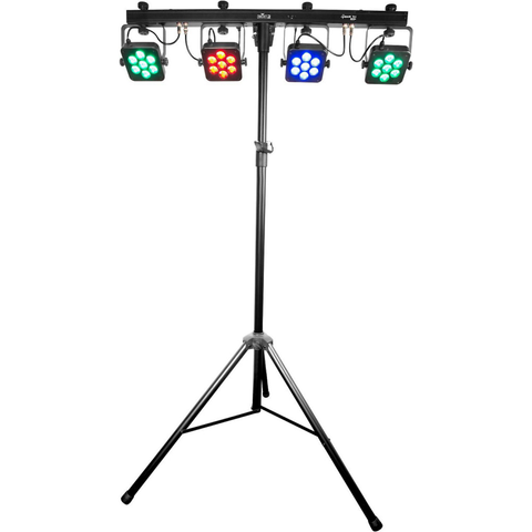 Chauvet 4BAR Tri USB Complete LED Wash Lighting Kit - 4BARTRIUSB