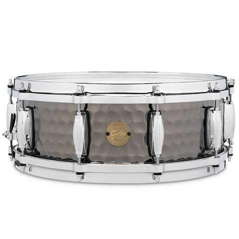 "Gretsch Drums Snare - Hammered Black Steel (5"" x 14"")"