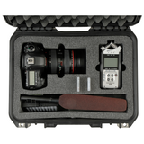 SKB iSeries Combo Case for DSLR Cameras and Zoom H6 Recorder - 3i-1510H6SLR - Waterproof Injection Molded