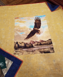A panel on the back of the quilt denotes Eagle Scout status for this deserving quilt owner!