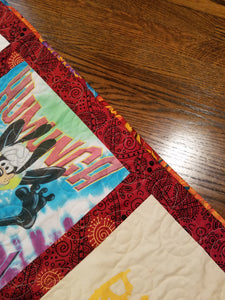 Colors in the shirts are brought out to the binding for a great finished edge.