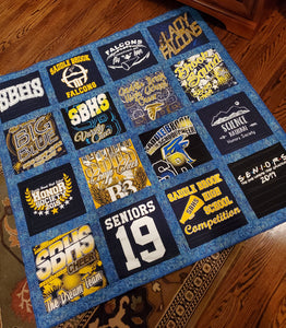 Front side of the completed quilt.